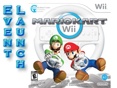 Mario Kart event launch mock up poster