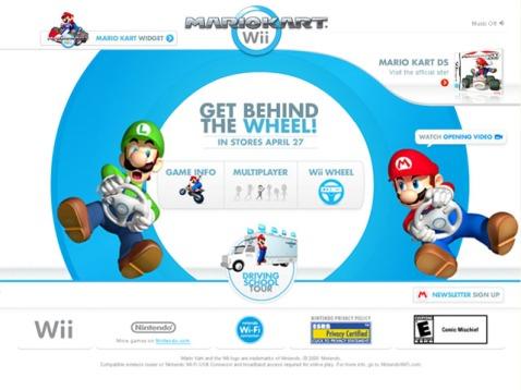 Mario Kart Official US website